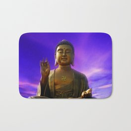Buddha Blue Dawn Bath Mat