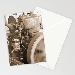 Lister Steam Engine. R A Lister Australia Pty Ltd. Salisbury Qld. Sepia Stationery Cards