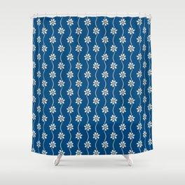 Bold Bohemian Tile Pattern Daisy  Shower Curtain