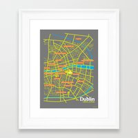 dublin Framed Art Prints featuring Dublin by mattholleydesign