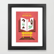 No434 My Notting Hill minimal movie poster Framed Art Print