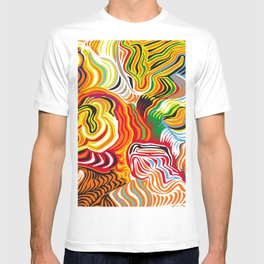 colored flow T-shirt