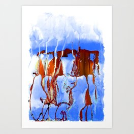 Colossal Sea Blue Art Print