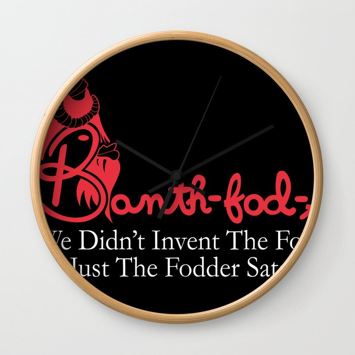 Banth fod A - for dark shirts Wall Clock