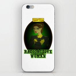 radioactive woman iPhone Skin