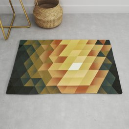 889 Geometric //  golden royal Rug