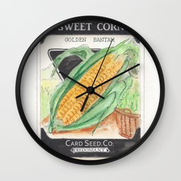 Sweet Corn Seed Packet Wall Clock