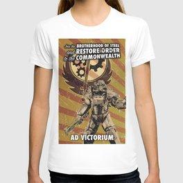 Fallout 4 - Brotherhood of Steel recruitment flyer T-shirt