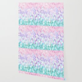 Mermaid Pastel Iridescent Wallpaper