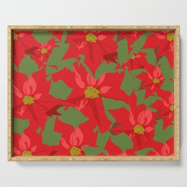 Poinsettia Love (Red) Serving Tray