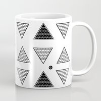 triangle Mugs featuring Triangle by Emmanuelle Ly
