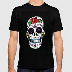 Sugar Skull MEDIUM Mens Fitted Tee Black