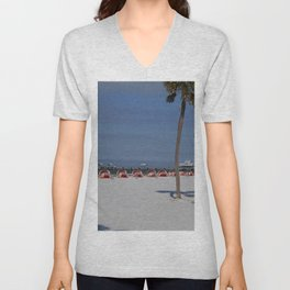 A November Day At Clearwater Beach Unisex V-Neck
