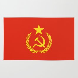 Russian Communist Flag Hammer & Sickle Rug