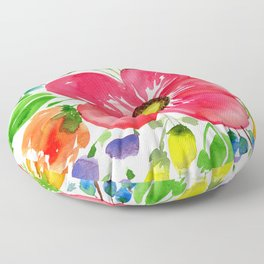 Bright Floral Floor Pillow