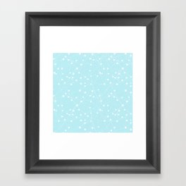 Merry Christmas- Teal Festive Stars X-Mas Pattern Framed Art Print