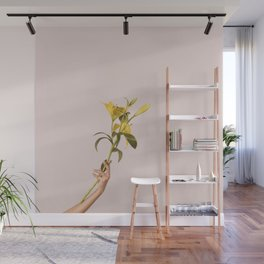 Excuse me while I hold my lilies Wall Mural