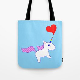Heart Horn Unicorn Tote Bag