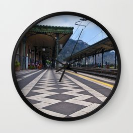 Train Station of Giardini Naxos on the Isle of Sicily - The Godfather Wall Clock