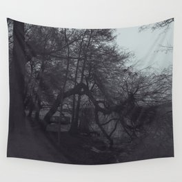 Tree, walking into the water Wall Tapestry