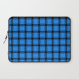 Small Dodger Blue Weave Laptop Sleeve
