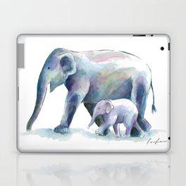 Elephant & baby watercolor Laptop & iPad Skin