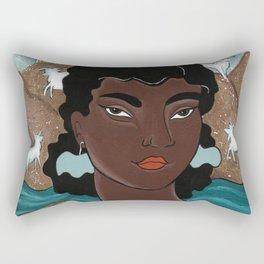 Capricorn by Amanda Laurel Atkins Rectangular Pillow