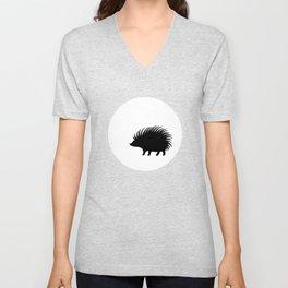 Hedgehog and Moon TSHIRT Unisex V-Neck