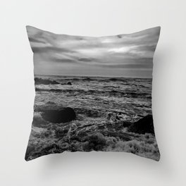Black and White SEA Throw Pillow