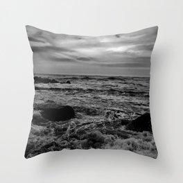 Black and White SEA Throw Pillow
