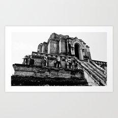 Ancient Elephant Temple Art Print