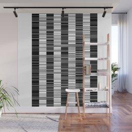 Black & white stripes Wall Mural