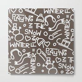 Wintergames Decoration Metal Print