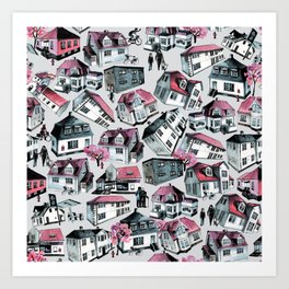 Danish small town pattern Art Print
