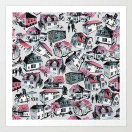 Danish small town pattern Art Print