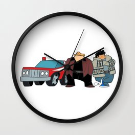 Cops Wall Clock