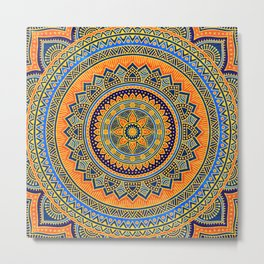Hippie mandala 65 Metal Print
