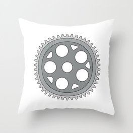 Vintage Single Ring Crank Retro Throw Pillow