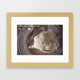 Coffee and Lucky Stars Framed Art Print