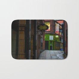An alleyway in Leeds (UK) Bath Mat