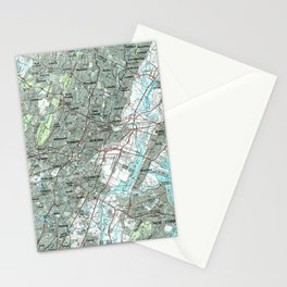 Newark NJ and Surrounding Areas Map (1986) Stationery Cards
