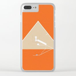 The Chambers, Great Pyramid, Giza Clear iPhone Case
