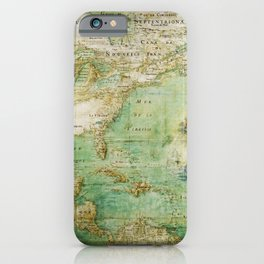 Map of North and Central America (c. 1681) iPhone Case