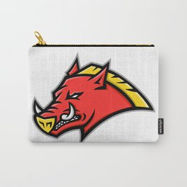 Angry Razorback Mascot Carry-All Pouch