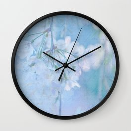 Ode to Fragile Beauty Wall Clock