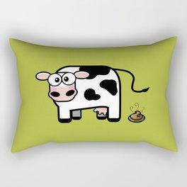 Pooping Cow Rectangular Pillow