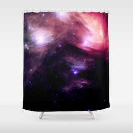 Galaxy : Pleiades Star Cluster nebUlA Purple Pink Shower Curtain