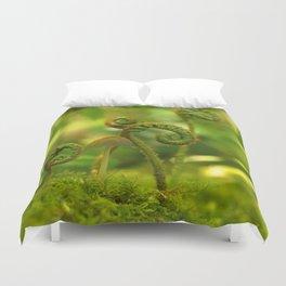 Mushroom In The Ferns... Duvet Cover