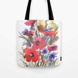 Big Poppy Field Tote Bag