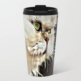 White Persian Cat Travel Mug